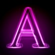 Glowing font. Shiny letter — Stock Photo
