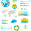 Infographic collectie met labels en grafische elementen. vector — Stockvector