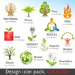 Design 3d color icon set. Design elements — Stock Vector