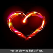 Vector light effect heart — Stock Vector