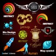 Royalty-Free Stock Vectorafbeeldingen: Collection of glossy and 3d vector icons