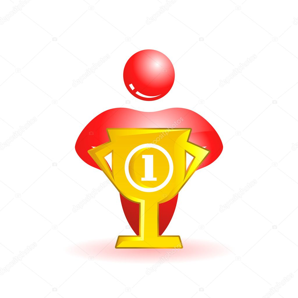 First place. Social icon. Vector illustration. — Stock Vector #9397523