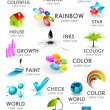 Design 3d color icon set. Design elements — Stock Vector #9765766