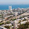 Haifa town, Israel - aerial view — Stock Photo