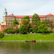 Wawel - Royal castle in Krakow — Stock Photo