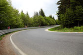 Sharp curve of road — Stock Photo