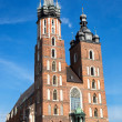 The basilica of the Virgin Mary in Cracow, Poland — Stock Photo