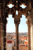 The view of Trogir from window of cathedral tower — Stok fotoğraf