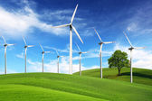 Windmills, alternative energy — Stock Photo