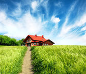 New rural house — Stockfoto