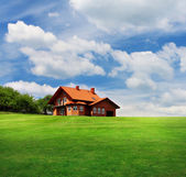 Dreamy rural house — Stock Photo