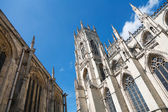 York Minster Yorkshire England under a blue sky — Stock Photo
