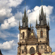 Gothic cathedral in Prague - Stock Photo