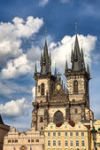 Gothic cathedral in Prague — Stock Photo