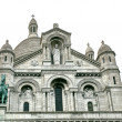 Cathedral Sacre Coeur, Montmartre,Paris — Stock Photo