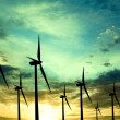 Stock Photo: Eco energie, wind turbines
