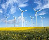 эко мощность, ветровых турбин — Стоковое фото