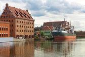 Staré město gdaňsk polsko — Stock fotografie