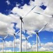 Blue wind energy — Foto Stock