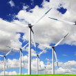Blue wind energy — Foto de Stock