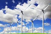 蓝色风能源 — 图库照片