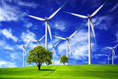 Energía eólica — Foto de Stock