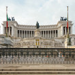 Piazza Venezia in Rome, Italy - Stock Photo