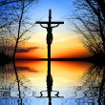 Cross at Sunset — Stock Photo