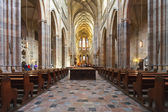 The interior of the Prague cathedral — Stock Photo