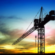 Construction site at sunset — Stock Photo #8202638