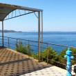 Stock Photo: Terrace overlooking sea