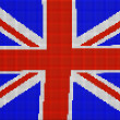 UK flag mosaic — Stock Photo