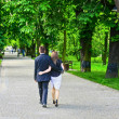 Couple in the park - Stock Photo
