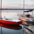 Sailboats at sunset — Stock Photo #8894442