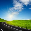 Road and blue sky — Stock Photo #8971637