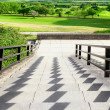 The entrance to the golf course — Stock Photo