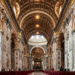 Interior of St. Peters Basilica — Stock Photo