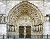 Entrance of the Notre Dame in Paris — Stock Photo