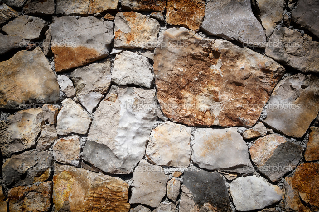 Medieval stone wall background or texture  Stock Photo #9322182