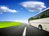 Blank tour bus — Stock Photo