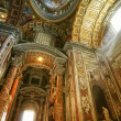 Inside St. Peter's Basilica - Stock Photo