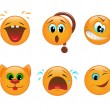 Set of smileys — Vector de stock #9179670