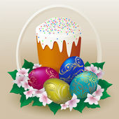 Easter-cake — Vector de stock