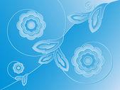 花卉浮雕装饰 — 图库矢量图片