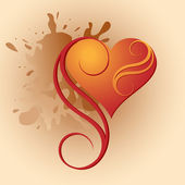 Heart-vignette — Vector de stock