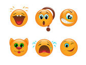 Set of smileys — Vector de stock