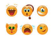 Uppsättning av smileys — Stockvektor