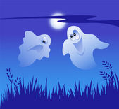 Two Ghost — Stock Vector