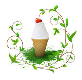 Ice-cream — Vector de stock