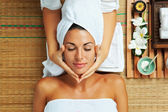Woman on spa — Stockfoto